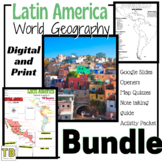 Latin America Geography Bundle (Google Slides, Activity Pa