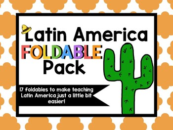 Latin America Geography Foldable Pack