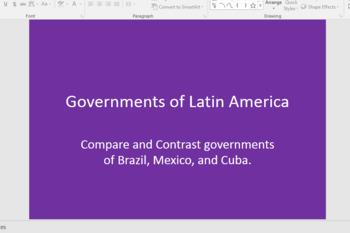 Latin America Government/Civics Resources