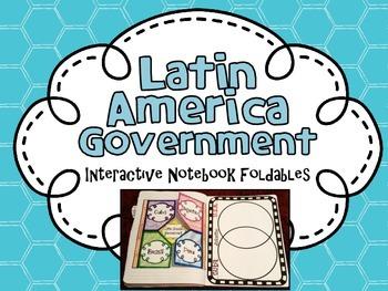 Latin America Government Interactive Notebook