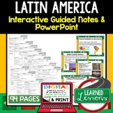 Latin America Guided Notes and PowerPoints Geography Print