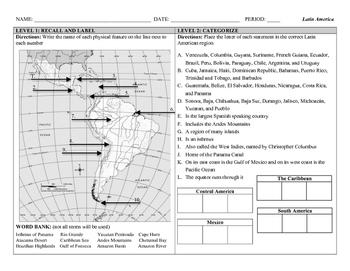 Latin America (DOK) Leveled Assessment