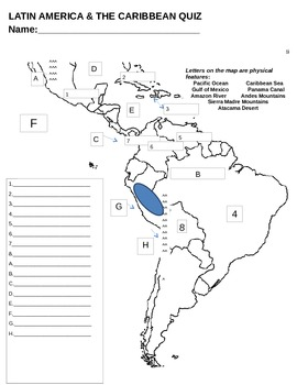 Latin America Map Quiz by Miss Social | Teachers Pay Teachers