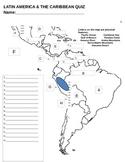 Latin America Map Quiz
