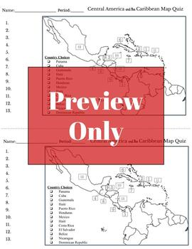 Latin America Map Quizzes (Central, Caribbean, South America)