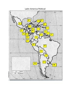 Latin America Mapping Quizzes and Characteristics Reading/Discussion