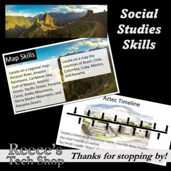Latin America - Maps, Vocabulary, Aztecs, and More!