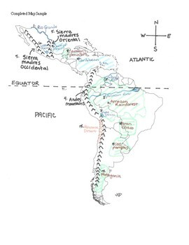 Latin America Physical Features Map and Quiz