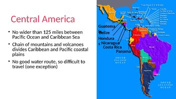 Latin America Political Geography PowerPoint, Guided Notes, and Completed Notes