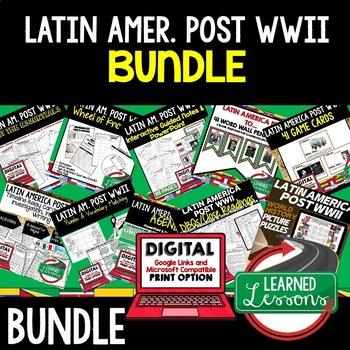 Latin America Post WWII BUNDLE (World History Bundle), Distance Learning /Print