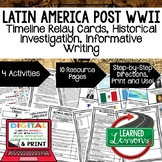 Latin America Post WWII Timeline, Investigation, & Writing (Paper and Google)