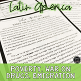 Latin America: Poverty, War on Drugs, Migration Reading Activity (SS6H1, SS6H1d)