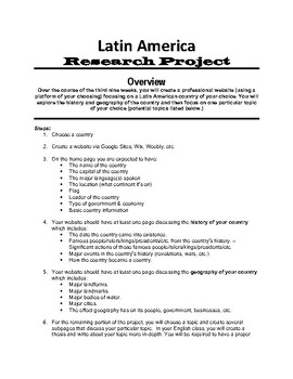 Latin America Research Project