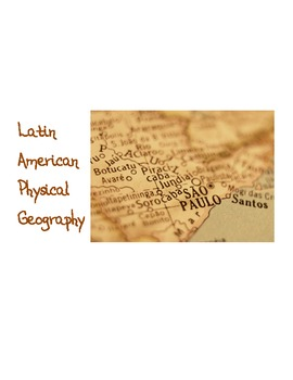 Latin America: Scavenger Hunt and Travel Assignment