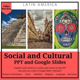 Latin America Social and Cultural Geography PPT and Google Slides