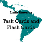 Latin America Task Cards and Flash Cards
