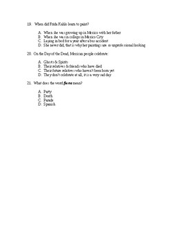 Latin America Test - Includes Answer Key