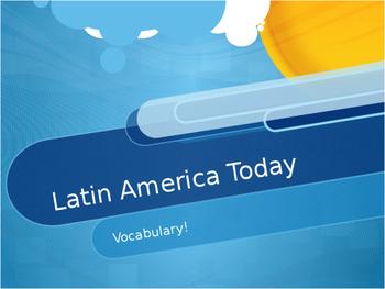 Latin America Today Vocabulary