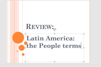 Latin America Unit terms and Unit Projects
