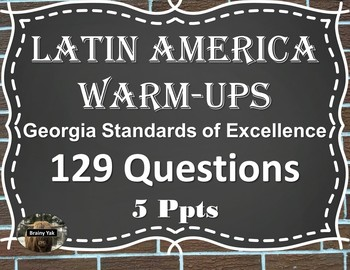Daily Social Studies Warm-Ups Latin America (Sixth Grade)