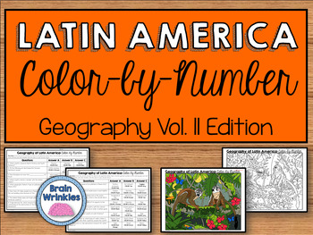 Latin America's Geography Vol. Two: Color-by-Number (SS6G1, SS6G2, SS6G3)