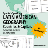 Latin American Countries and Capitals: Geography Activities and Games in Spanish