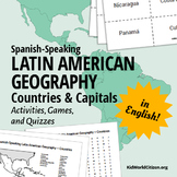 Latin American Countries and Capitals: Geography Activities and Games in English