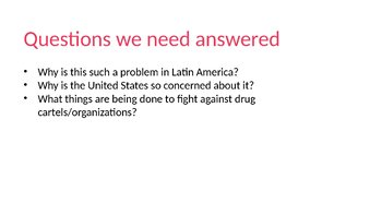 Latin American Drug Cartels Activity and PowerPoint