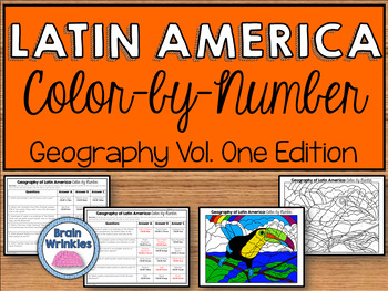 Latin American Geography: Color-by-Number