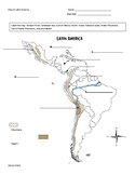 Latin American Geography worksheet