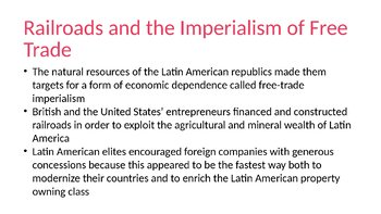 Latin American Imperialism PowerPoint, Guided Notes, and Completed Notes