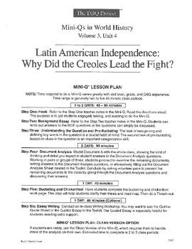 Latin American Independence: DBQ