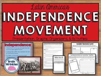 Latin American Independence Movement -- L'Ouverture, Bolivar, & Hidalgo (SSH2c)