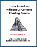 Latin American Indigenous Bundle: Lectura y cultura 5 Spanish Readings @35% off!