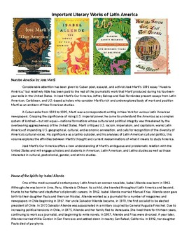 Latin American Literature foldable