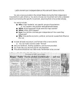 Latin American Revolution News Article
