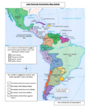Latin American Revolutions Map Activity