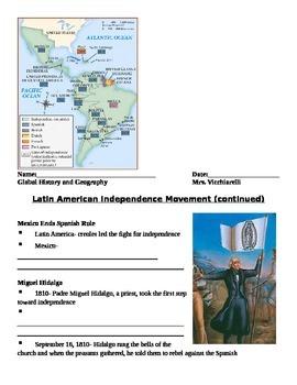 Latin American Revolutions NOTES
