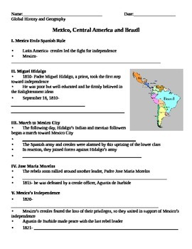 Latin American Revolutions NOTES PART 2