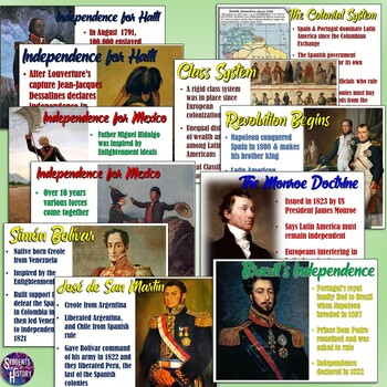 Latin American Revolutions Notes & Graphic Organizer