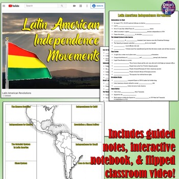 Latin American Revolutions Notes & Graphic Organizer