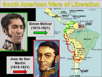 Latin American Revolutions & Rise of British Empire Powerpoint (5.4)