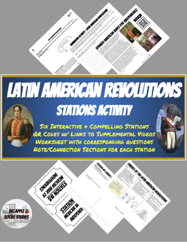 Latin American Revolutions Stations Activity