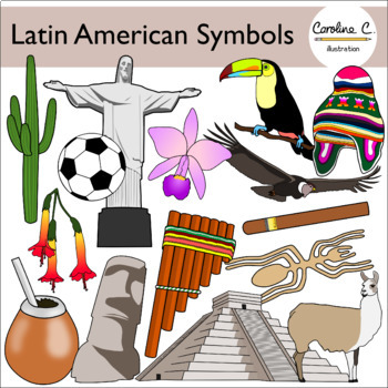 Latin American Symbols Clip Art By Caroline C Illustration Tpt