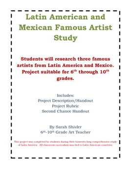 Latin American and Mexican Famous Artist Study