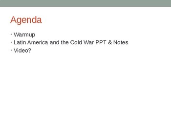 Latin American and the Cold War PowerPoint