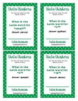 Latin Branium: Latin Card/Board Game