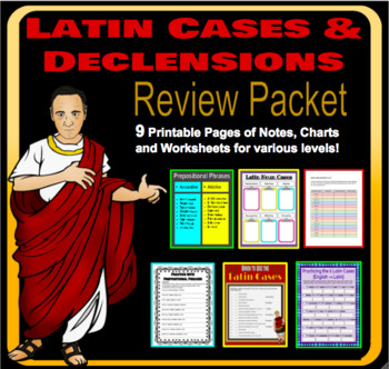 Latin Cases and Declensions :  Review Worksheets