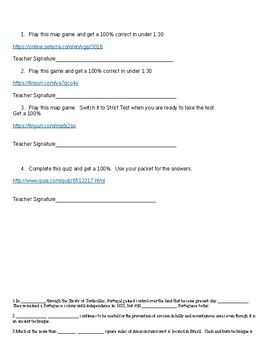 Latin/Central/South America Geography Puzzle Packet w/ Online Games!