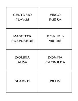 Latin Clue Cards